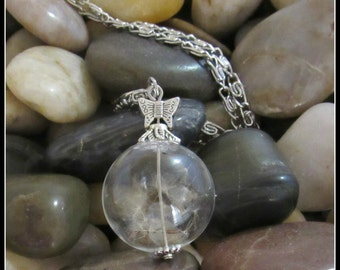 "Dandelion Seed Pendant on 28"" Chain"