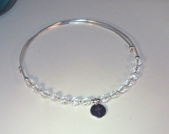 Czech Crystal Jewelry - Rosary Necklace  - Silver TierraCast Cross Pendant