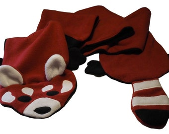 Red Panda Fleece Scarf