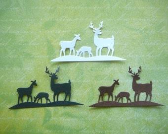 6pc Deer Die Cut Embellishment for Scrapbooking, Card Making