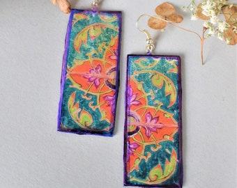 Gipsy Earrings,Mandala Earrings,Flower Power,Goa,Festival Earrings,Bohemian Earrings,Pixie,Forest earrings,Floral ethnic Earrings