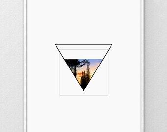Tropical Print, Printable Art, Geometric Print, Beach Art, Hawaii Print, Contemporary Art, Contemporary Decor, Abstract Print, Digital Print