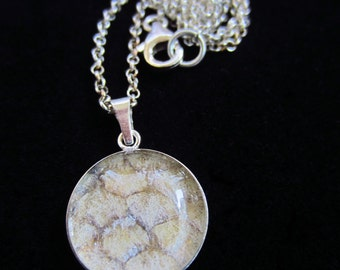 Lohi -fish skin and silver necklace