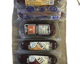 Exotic Summer Sausage Gift Bag 6 Pack Sampler