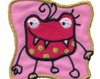 patch fusible funny Monster pink