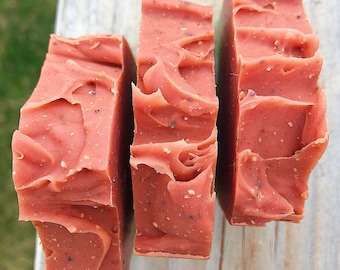 Watermelon Taffy-Handmade Artisan Goats Milk Soap-Cold Process Soap