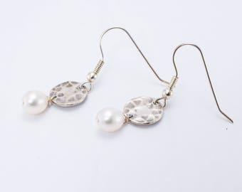 Sterling Silver, Fresh Water Pearl Earrings