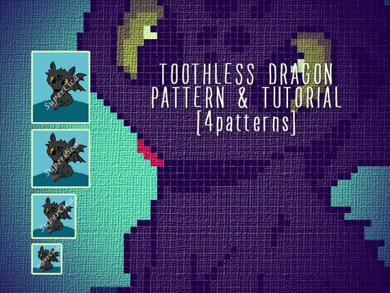 Toothless Dragon Amigurumi Pattern : Toothless dragon blanket corner to corner crochet pattern and