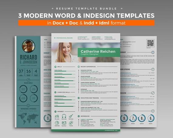 CV Template / Resume Template Bundle 3 Best Curriculum Vitae