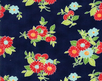 The Good Life - Summer in Navy 55151-16 Cotton Quilting Fabric by Bonnie and Camille for Moda Fabrics