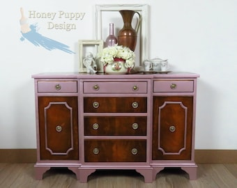 Upcycled painted compact buffet, sideboard