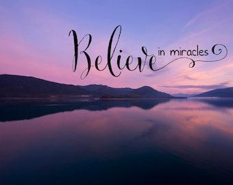 Believe - Canvas Wall Hanging