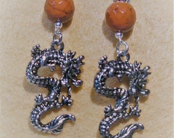Old Japan Collection Dragon Earrings
