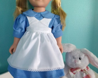 Alice in wonderland dress for American Girl and 18 inch dolls