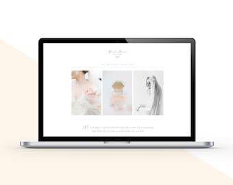 SALE! Squarespace Website Template & Complete Welcome Kit - Bridal Magazine - Marketing Set - Boudoir Photographer Branding - Aspen