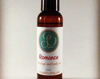 Massage Body Oil, Sensual Massage and Body Oil, Romance Body Oil - 4oz