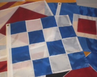 Boating Flags Individual Nautical Signal Flags 12x12 INCH Made to Order