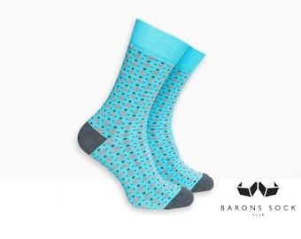 Men Dress Socks | Men Socks | Socks for Men | Dress Socks | Groomsmen Socks | Groom Socks | Wedding Socks | Cotton Socks | Light Blue Socks