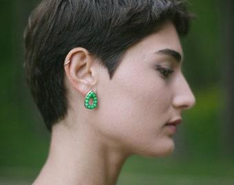 Boucles d'oreilles forme de larme / Vintage boucles d'oreilles