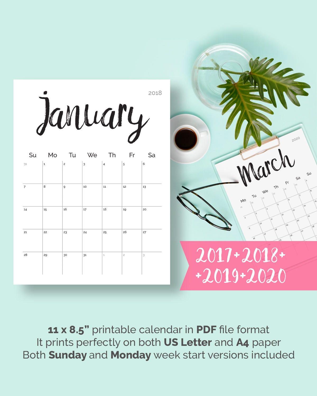 Free Printable Calendar Pdf 2020