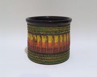 Vintage Planter Italian Pottery Bitossi Style
