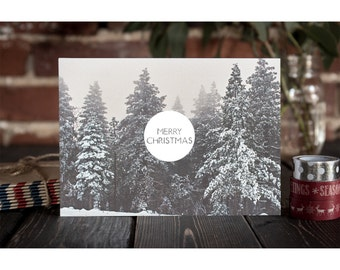 Christmas Card Set, Merry Christmas, Postcards, Holiday Cards, Paper Goods, Stationery, Simple Christmas Cards