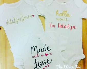 Personalized baby shirts
