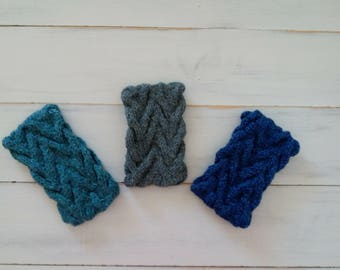 Headband - Ear warmer - Knitted headband - cable knitted - women headband