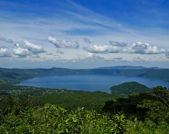 Lake Coatepeque in El Salvador Photo Print 18 x12