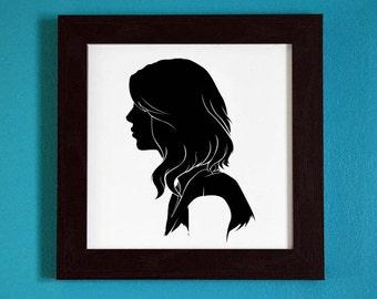 The Originals - Freya Mikaelson - Silhouette Portrait Print