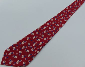 1940's Vintage Valentines Day Love Letters Wide Tie