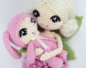 PATTERN 2-PACK: Chrysanna and Lilanna Fairy Crochet Amigurumi Dolls