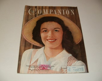 womans home companion magazine september 1950, vintage ads, Cop on Vintage Harley, retro, collectible