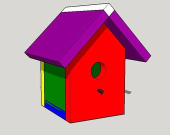 Simple Birdhouse Pattern