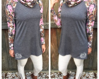 Blossom Into Fall Cowlneck Pullover