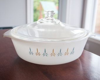 Bowl Fire King candel pattern. Excellent Condition. vintage - mid century Fire King candel pattern