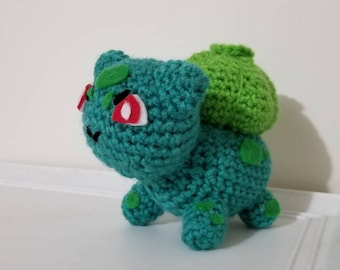 Pokemon Inspired Bulbasaur Crochet Plush