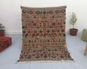 Best Moroccan Rug wool kilim rug