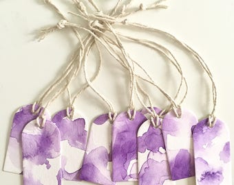Purple Watercolor Gift Tags