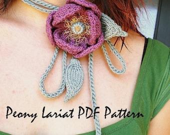 PDF Knitting Pattern - Peony Lariat