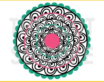 The Daintly Doily cut file is a background design that can be used for your scrapbooking and papercrafting projects.