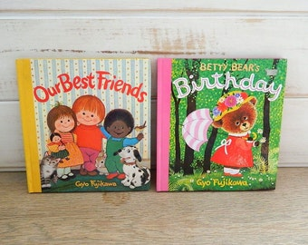 "Gyo Fujikawa Children's  Board Books - ""Our Best Friends"" - ""Betty Bear's Birthday"" - 1977 - Grosset & Dunlap"