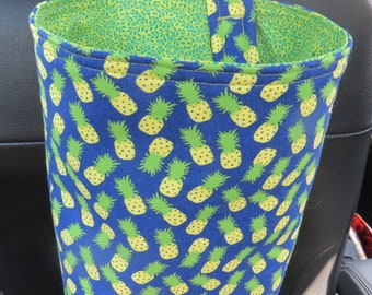Trash Bin, Car Trash Bag, Cute Car Accessories, Headrest Bag, Trash Container, Pineapples