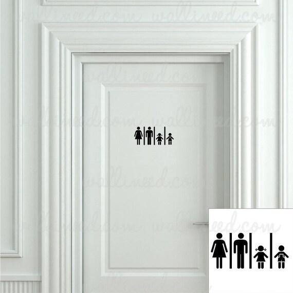 Family Restroom Toilet Sign Bathroom Sign Toilet Sign Door