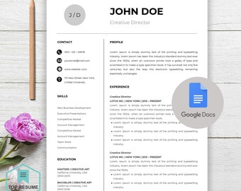 """Resume Template   Professional Resume Template for Word   CV Resume + Cover Letter   4 Page Pack   Instant Download Resume   """"John"""""""