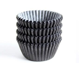 SALE: MINI Black Cupcake Liners (60)