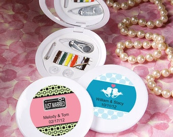 24 Personalized Collection Sewing Kit Favors - Set of 24