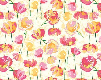 Riley Blake Floral Paige's Passion Toss-Yellow /Cotton/ Fabrics/ Sewing/ Quilting/ Quilt