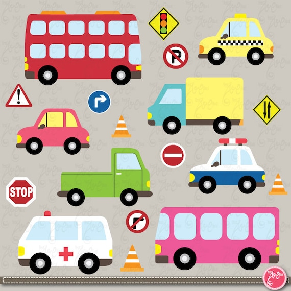 Brand-new Transportation clip art Cute Vehicles transport set perfect MO98