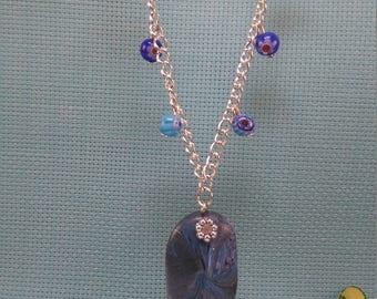 §42§ polymer & millefiori beads necklace